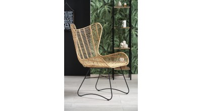 INDIANA fotel wypoczynkowy rattan naturalny