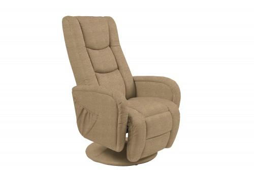 FOTEL PULSAR 2 recliner z funkcją masażu beżowy