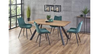 ESPOSITO stół, blat - naturalny, nogi - czarny