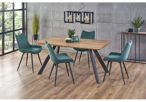 ESPOSITO stół, blat - naturalny, nogi - czarny (2p=1szt)