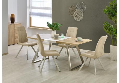 TREVOR stół dąb sonoma / biały