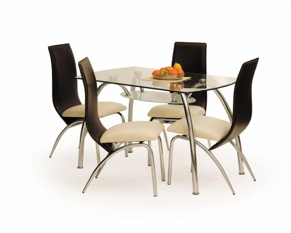 Zestaw Do Jadalni Kronos Stół 4 Krzesła