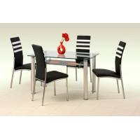 Zestaw do jadalni LONG  stół + 4 krzesła
